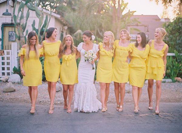 yellow bridesmaids