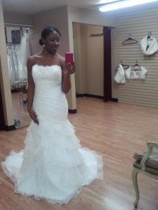 Renae's original wedding dress