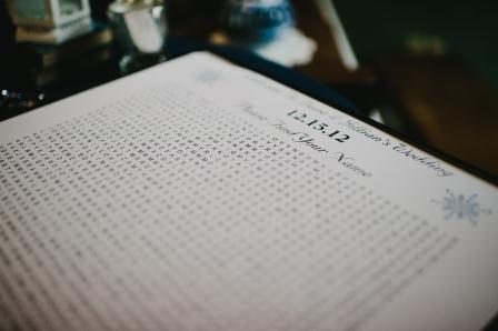 I used puzzle-make.com to make a free word search with all of our guests' names in it for our guest book.