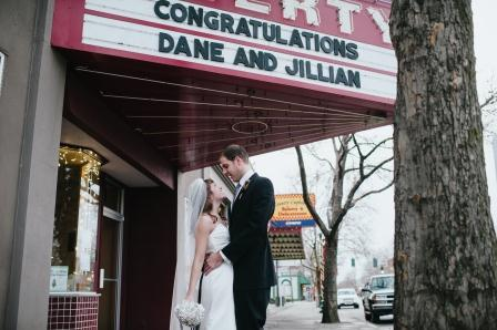 Here's every last detail just for you! This photo is of Dane and I in front of the Liberty Theater in Dayton, Wash. All photos are by the talented Ali Walker at Ali Walker Photography.