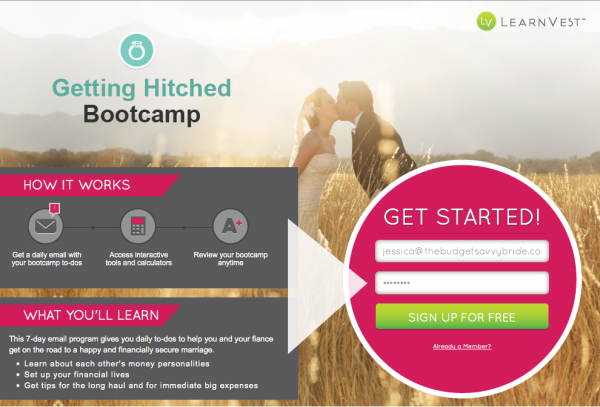 getting hitched bootcamp