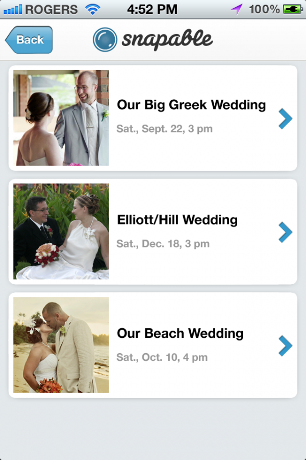 screen 2 select event 600x900 in {Partner Love} Capture Every Moment with Snapable and sponsors partners