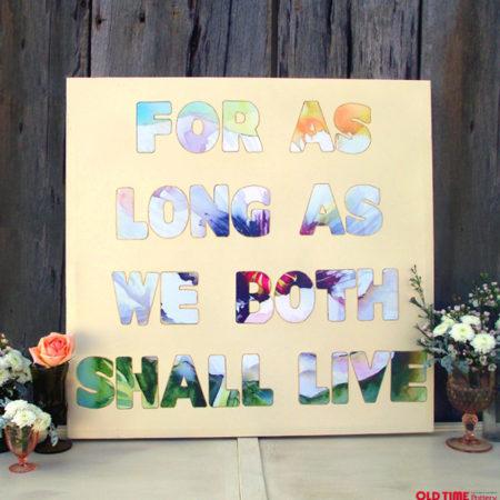 DIY Wedding Vows Canvas Art by Stockroom Vintage