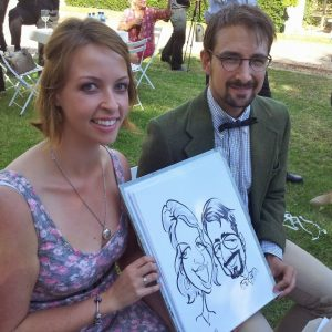 Cape Town caricature artist photo booth wedding sketch