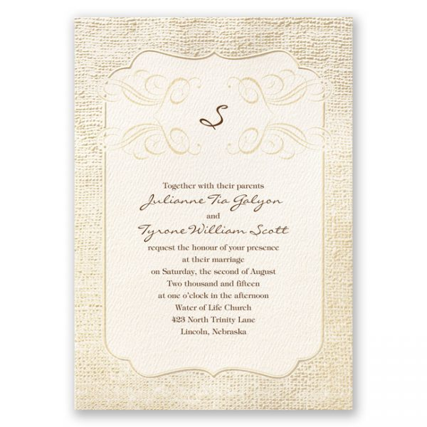 rustic vintage theme wedding invitations