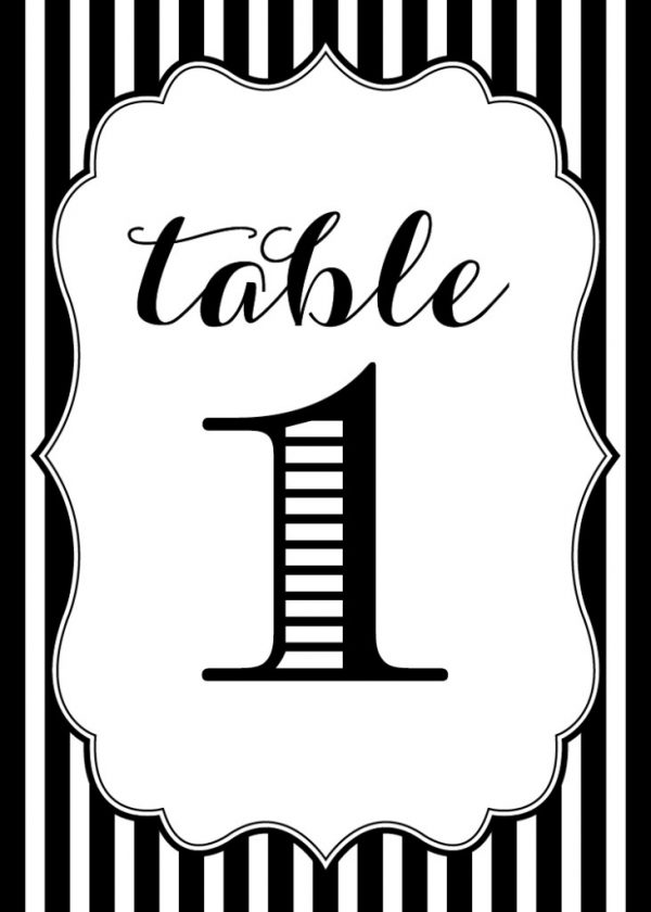 Free Printables Wedding Table Numbers - www ...