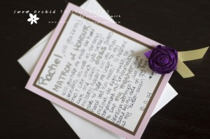 Popping the Big Question - Will You Be My Matron of Honor? Photo Credit: Me - www.sweetorchidphotography.com