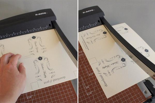 Free Elegant Printable Place Cards