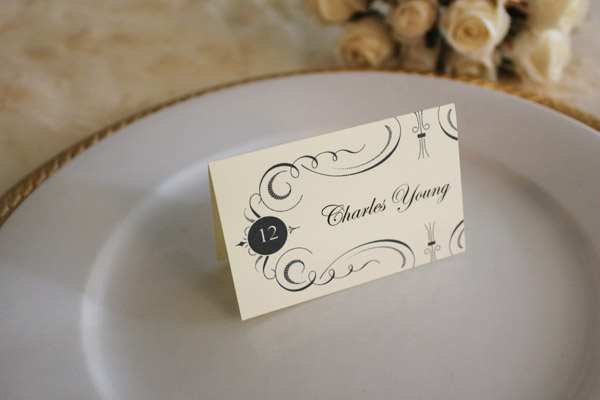 Free Printable Place Cards The Budget Savvy Bride - Card template free: name placard template