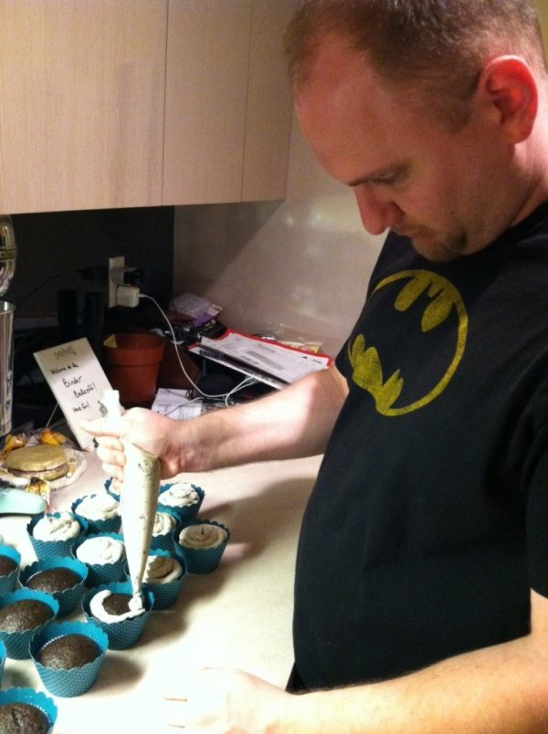 I bake, Matt frosts.