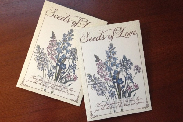 flower seed packets wedding favors