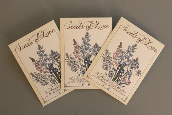DIY Seed Packet Wedding Favors | The Budget Savvy Bride