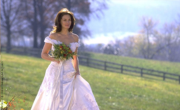 "When I envisioned the day I married John, I immediately thought of the ending of ""The Runaway Bride"". Call me crazy. But that feel - that intimate moment where it's just the two of you ... I wanted that.  Source:"
