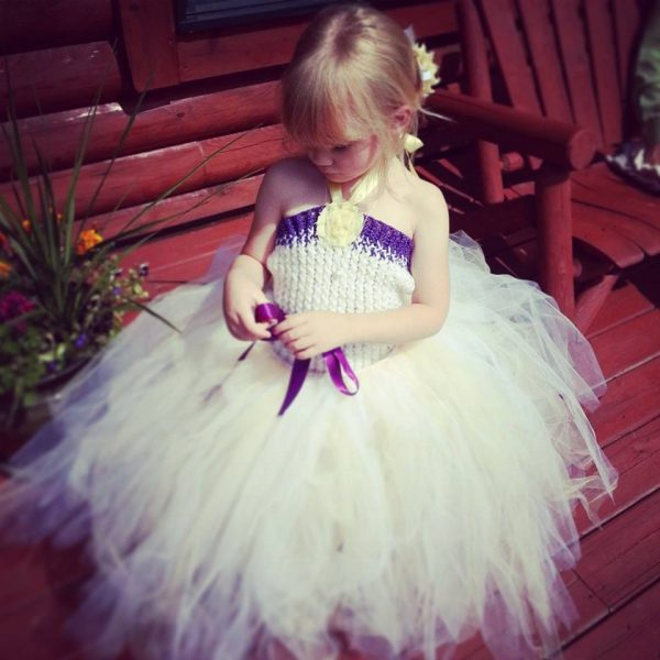 Ceremony Flower Girl Dress - Tutu Goddess custom made for me - www.facebook.com/TuTuGoddess
