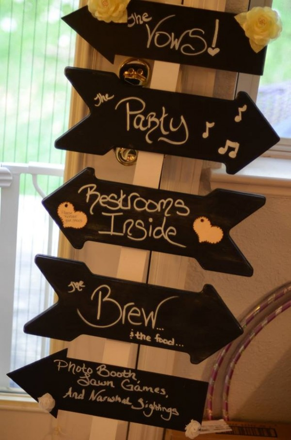 The finished Chalkboard Arrow Sign/Stake