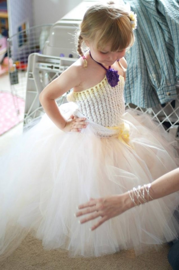 My second flower girl, Emily, modeling her tutu dress
