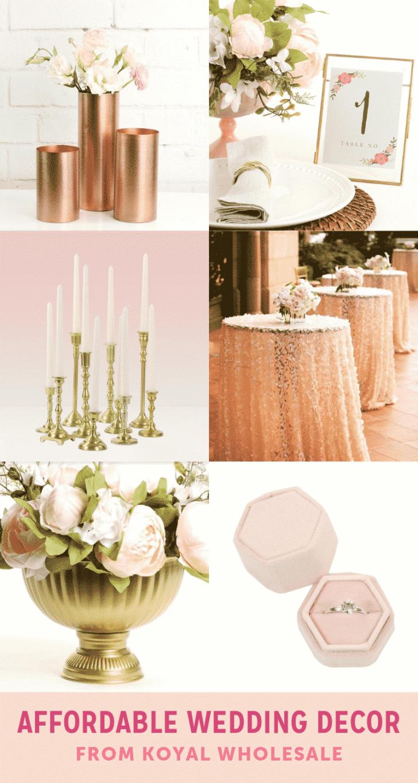 affordable wedding decor from koyal wholesale