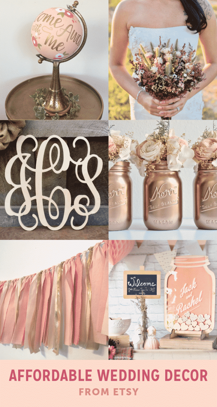 affordable wedding decor from etsy