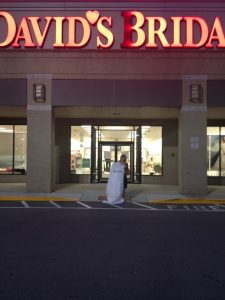 Outside of David's Bridal with THE dress