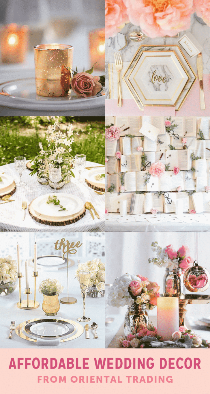 affordable wedding decor from marry me by otc