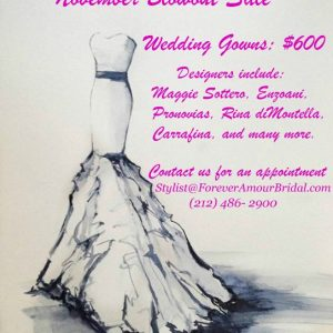 designer dress sale NYC