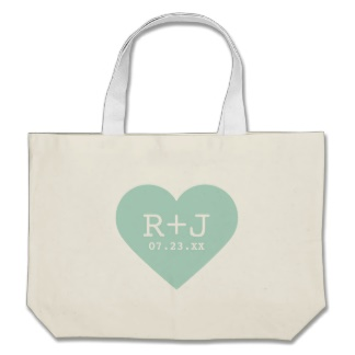 canvas wedding tote bag