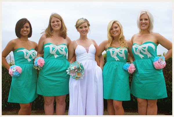 tiffany inspired bridesmaids dress