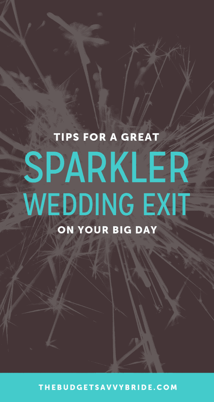 tips for a great sparkler exit