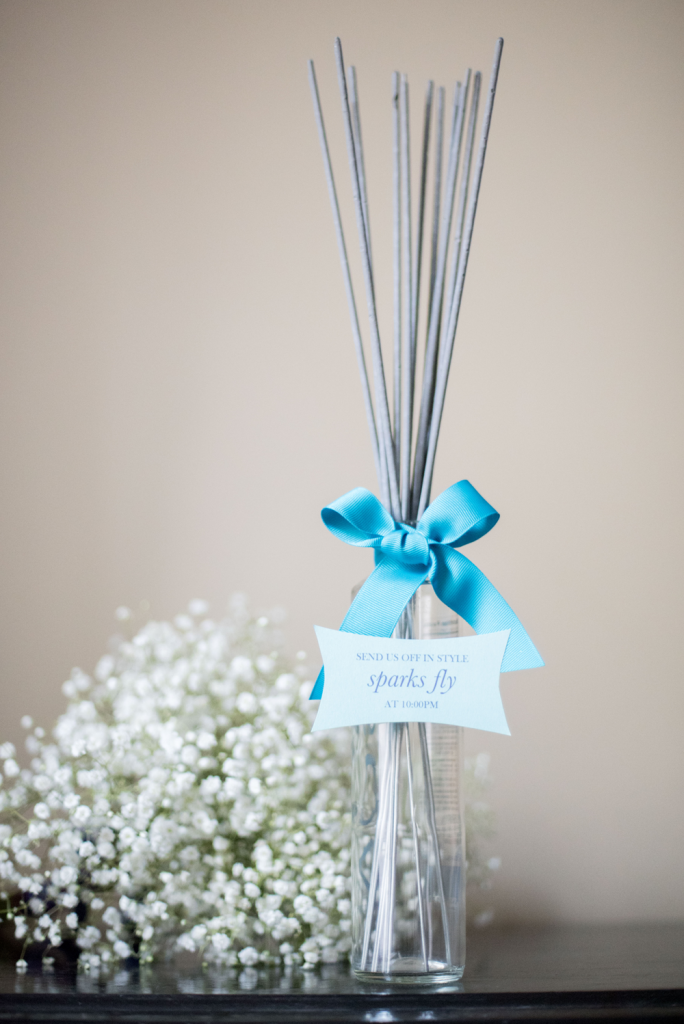 How to Display Wedding Sparklers at Your Wedding Reception. Photo by Mikkel Paige Photography