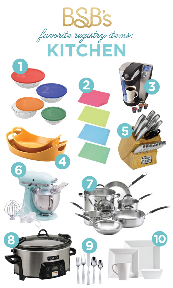 My Favorite Registry Must Haves For Your Newlywed Kitchen.