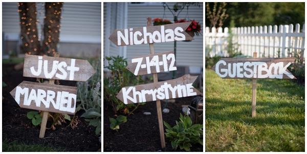 diy wooden wedding signs