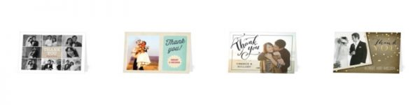tiny prints wedding thank you cards