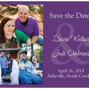 Laura and Josh Save the Date 2013