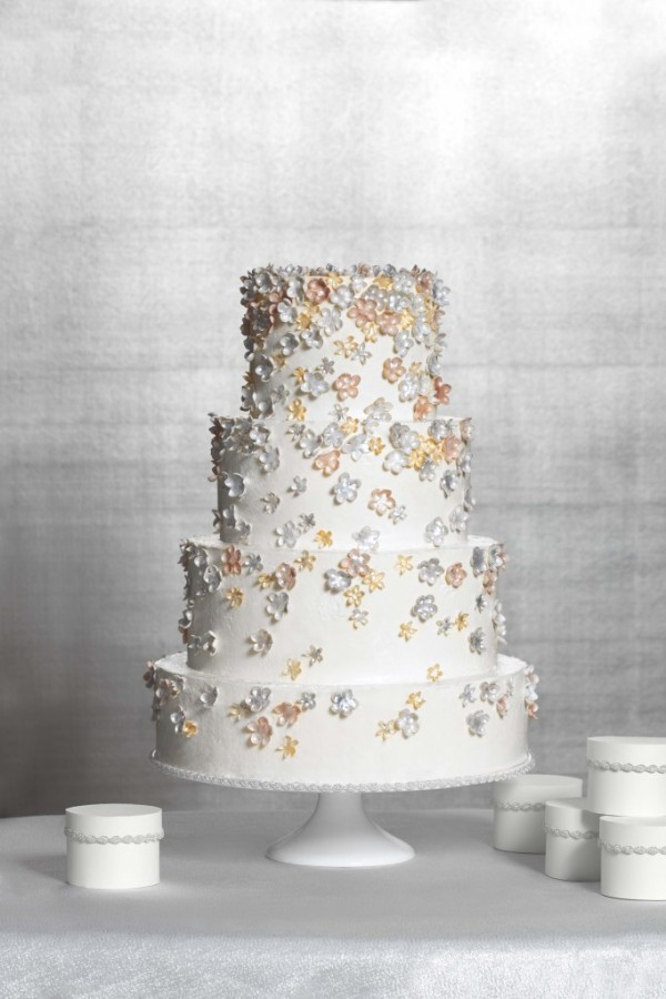 Martha Stewart Weddings flower cake
