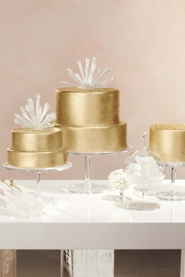 Martha Stewart Weddings gold cake