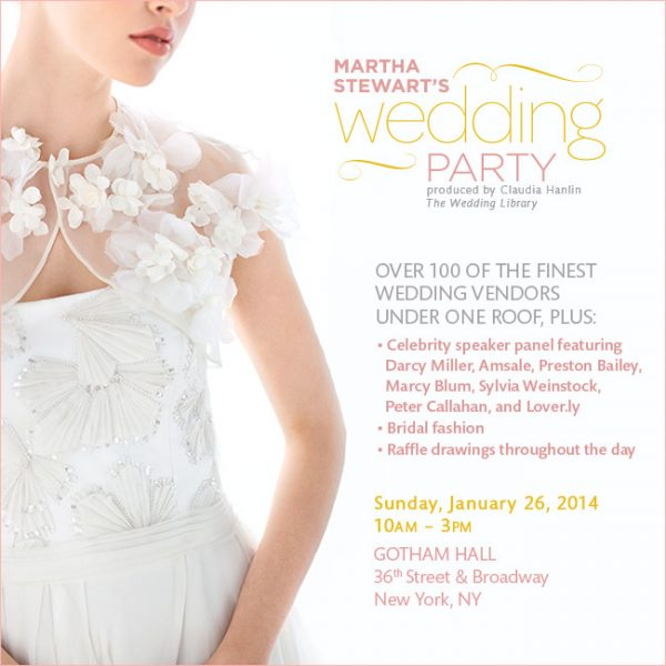 Martha Stewart's Wedding Party in NYC