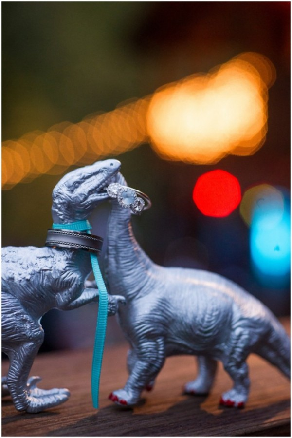 dinosaur wedding details