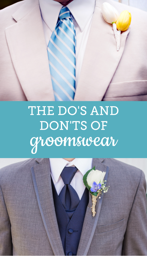 Do's and Don'ts of Groomswear