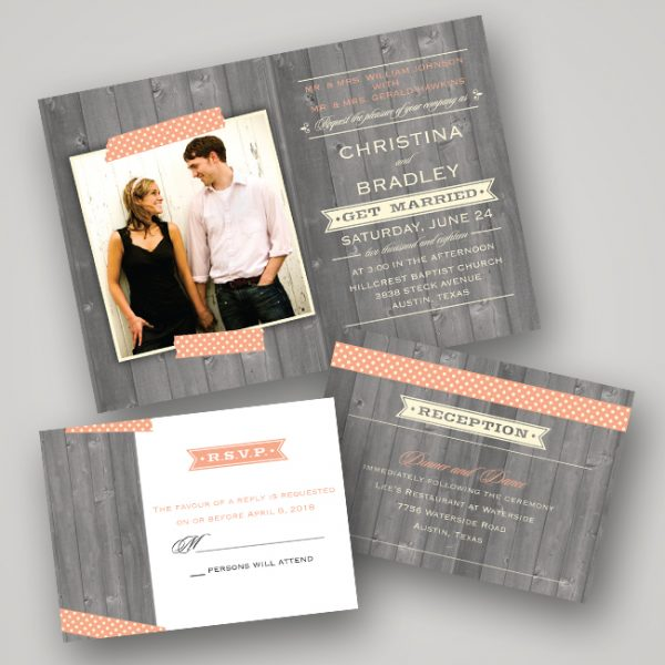 photo wedding invite