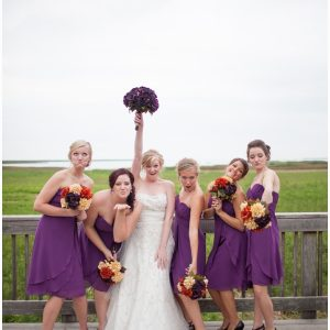 purple bridesmaid