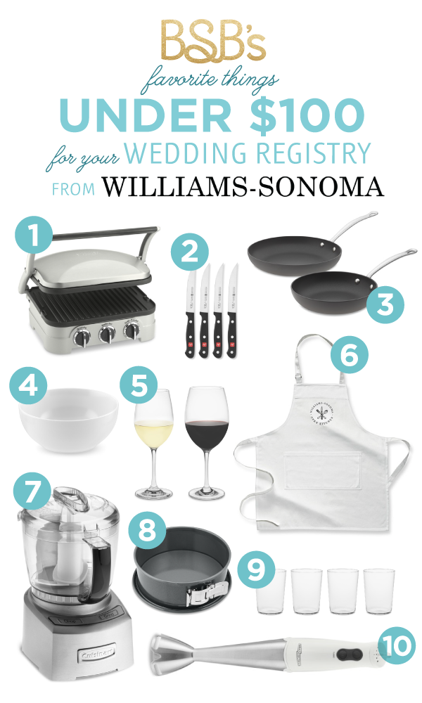 Williams Sonoma Wedding Registry Gifts