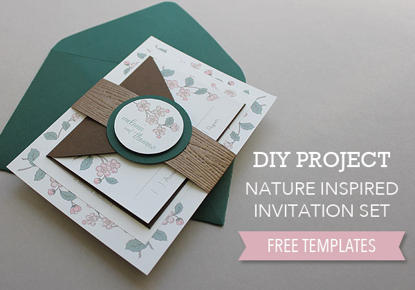 00 Project Feature Image DIY Spring Wedding Invitation Set with Belly Band