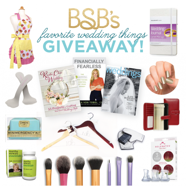Budget Savvy Bride's Favorite Things giveaway