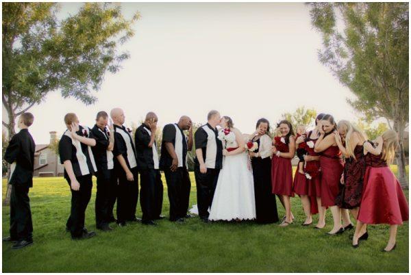 black white red wedding_0007