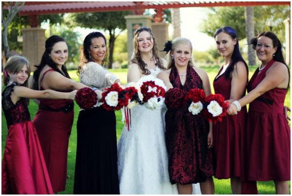 black white red wedding_0008