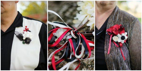 black white red wedding_0009