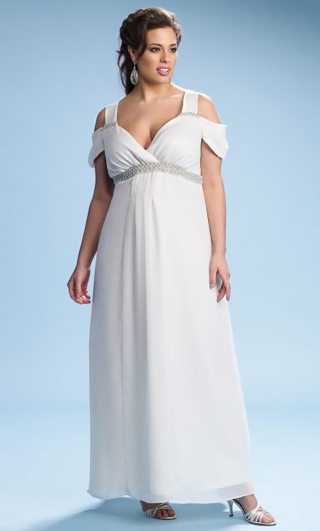 grecian plus size wedding dress
