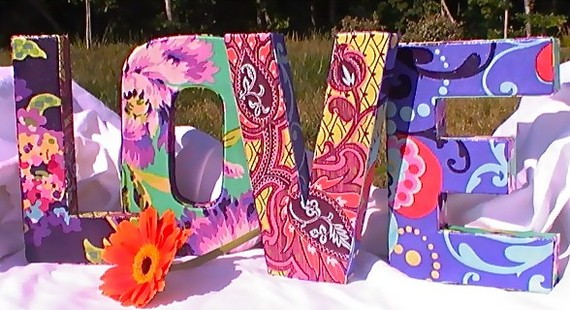 Fabric letter decor