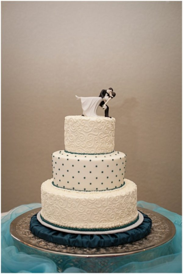 wedding cake polka dot