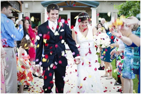 flower petal toss wedding